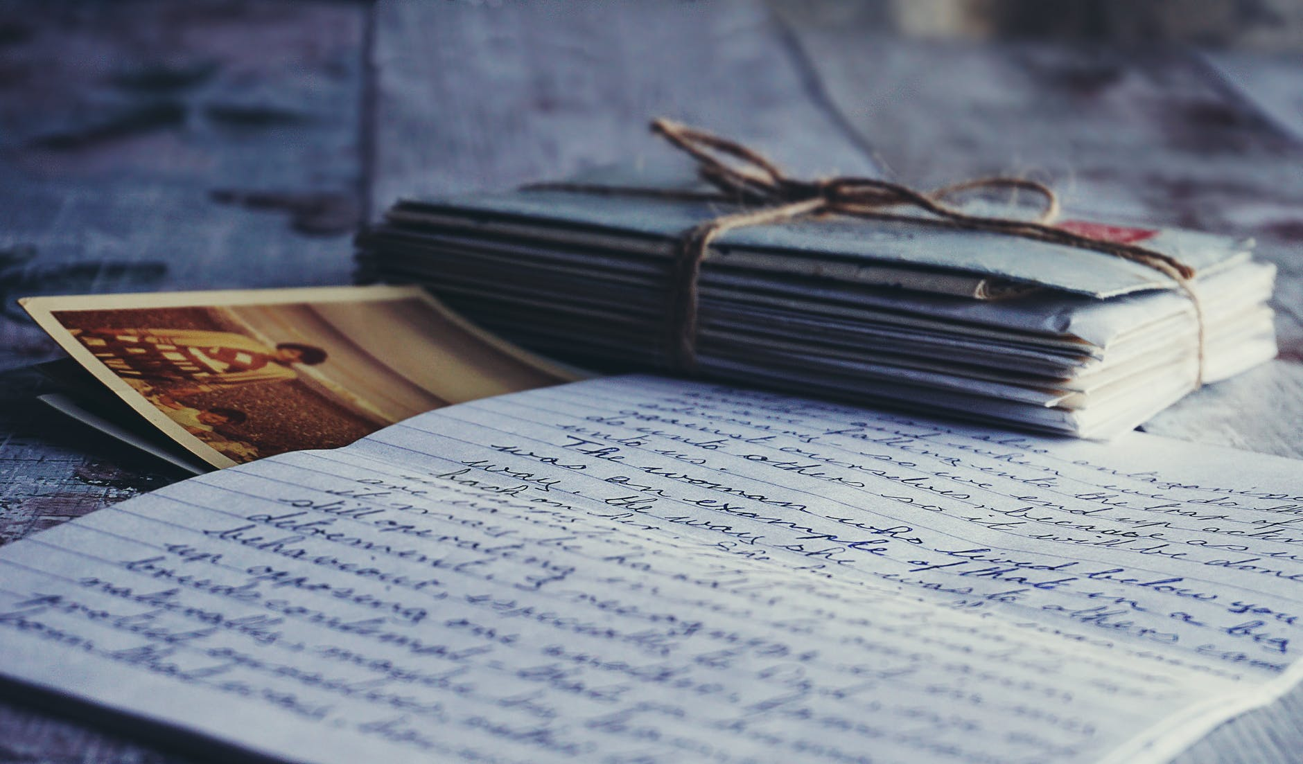 shallow focus of letter paper