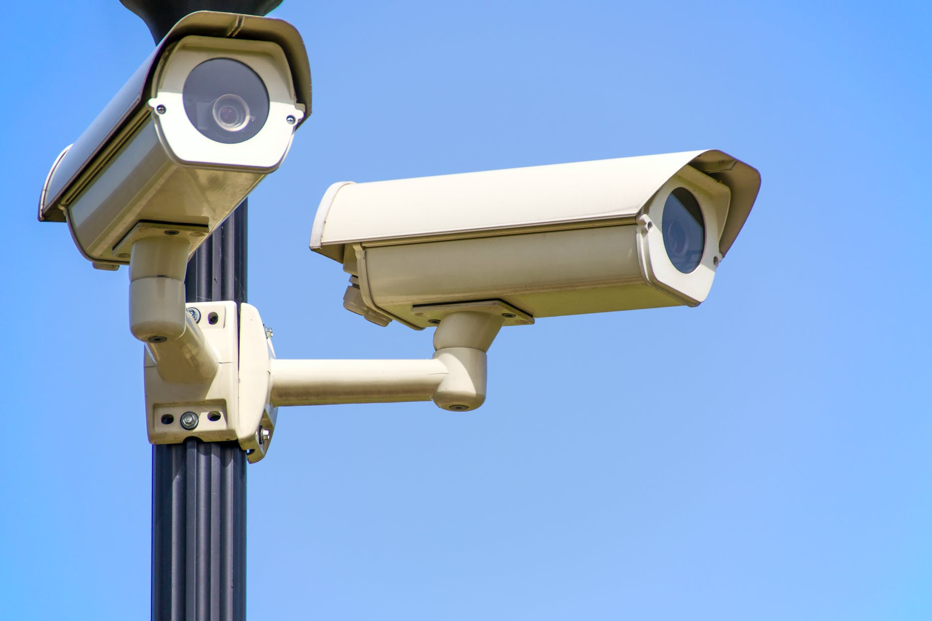 police blue sky security surveillance